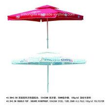 3.5X3.5m windundurchlässiger quadratischer Doppelschicht-Patio-Regenschirm (YSBEA0029)
