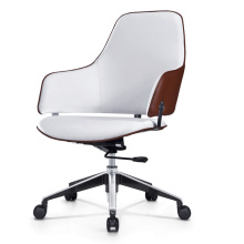Leisure Type Visitor Design Armchair with Swivel Base for Meeting Room