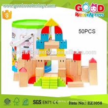 EZ1058 58pcs Hardwood Painted Kids Building Blocks