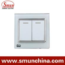 Interruptor de toque branco 2gang, Interruptor de parede, Tomada de parede