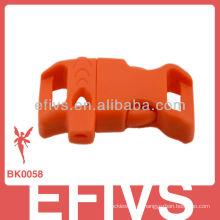 2013 China pulseira de sobrevivência paracord com fivela de apito