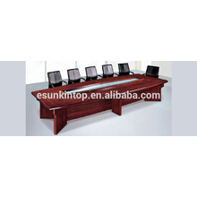 Conference table wood finishing, Single layer desk for office meeting room (T02)