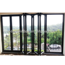 Order from china direct main entrance doors design double glass bi-folding door with low-e coating