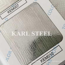201 Edelstahl Silber Farbe geprägt Kem010 Blatt