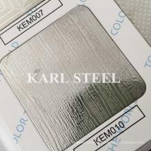 201 Stainless Steel Silver Color Embossed Kem010 Sheet
