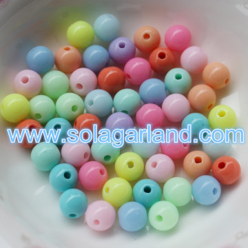 6-30MM ondoorzichtige solide kralen acryl losse Spacer Beads Charms