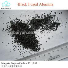 Fabricante melhores vendas alta dureza Black Fused Aluminium Oxide corindon stone