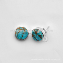 Semi Precious Gemstone Earrings Turquoise Stud Earring Wholesale Gemstone Earring