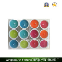 Bougie remplie de porcelaine pour décoration à la maison
