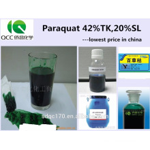 Factory direct supply widely used herbicide Paraquat 42%TC 20%SL CAS 1910-42-5v---Lmj