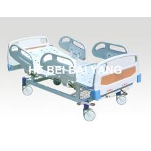 (A-57) - Cama de hospital manual de duas funções com cabeça de cama ABS