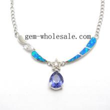 Collier crée bijoux Opale (YN0005)