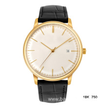 18K 750 men gold watch