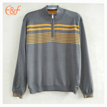 Fashion Men Striking stripes Plain Sweater