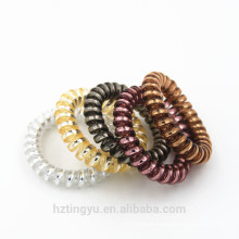 Elastic Telephone Wire Cord Head Ties Hair Band Rope yellow Ponytail Hair Ring Holder hairband