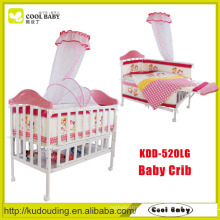 China Manufacturer NEW Design Crib for Baby with Mosquito net Aluminum Frame Baby Bed Can be Extended