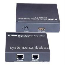 Amplificador de HDMI 2Ports Splitter por Cat5x1