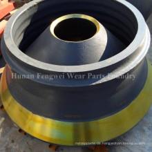 Hohe Qualität konkurrenzfähiger Preis Hohe Mangan-Kegelbrecher-Ersatzteile