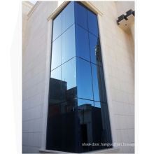 Foshan manufacturer tempered glass glass curtain wall cost per square metre