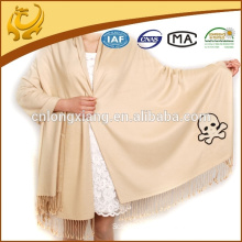 2015 New Arrival High Quality Fashionable Solid Color Brushed Wholesale Turkish Pashmina