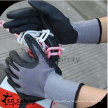 SRSAFETY высококачественные перчатки / 15G трикотажные покрытые микро пены перчатка нитрильная сталь промышленность перчатка