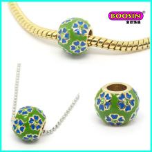 Bracelet à glissière en alliage à la main à la mode, breloques en perles