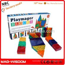 Playmags 2016 Blocs de construction magnétique 3D Intelligence Toys 14pcs Sets