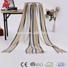 100 acrylique tissé impression hôtel couverture marché de la chine