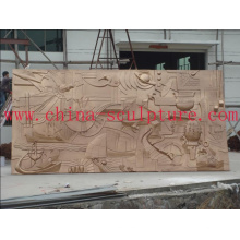 Hotel Kupfer Dekoration / Wand Relief Skulptur