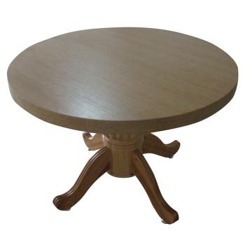 Table à manger ronde en bois pour les meubles d'hôtel