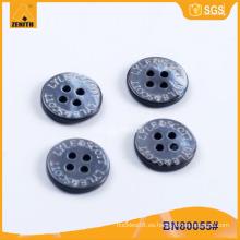 Láser grabado MOP shell botón de la camisa BN80055