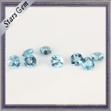 Natural transparente suíço azul Topaz Gemstone Bead