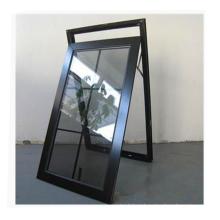 Waterproof design Modern house window  philippines aluminium awning window