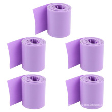 72mm Purple Battery Insulation Sleeve 2:1 Thin Wall PVC Heat Shrink Tubing