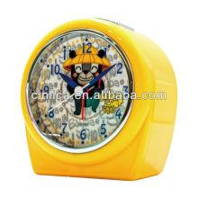 Réveil orange / horloge de bureau, horloge de table, réveil de projecteur de lumière uniforme de brevet CK-503