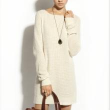 17PKCS165 2017 women winter warm trendy 85/15 cotton cashmere dress