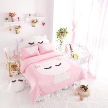 2015 venda quente nova princesa rosa cama algodão conjunto