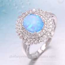 Neueste Ankunft charmante Meer blau 925 Sterling Silber Ring für Frauen