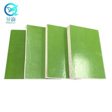 Green PP Plastic film faced plywood 12mm 15mm 18mm