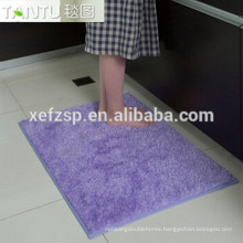 aisle runner waterproof bath long hair rug long pile 100% polyester machine washable entrance mat