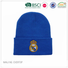 Royal blu ricamo Football Fan Beanie