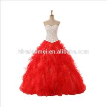 2017 Braut Brautkleider rot Brautkleid Braut Prinzessin Hochzeitskleid für Foto
