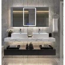 Armário de banheiro de madeira maciça branca