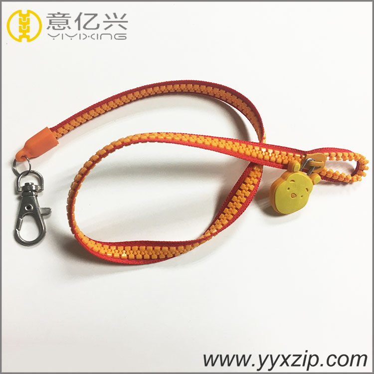 lanyard with rubber tag