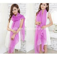 100% poliéster / tela de la gasa de la torcedura alta para la bufanda
