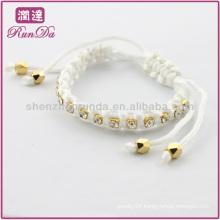 wrap silk crystal bead bracelet of many colors