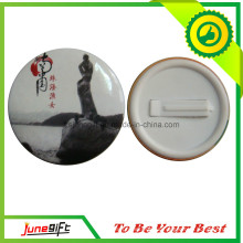 Tourist Attractions Tin Button Badge From China in Wholesale