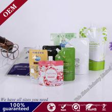 Popular Laminated Plastic Suction Nozzle Bag for Beverage Soft Drink Spout Pouch