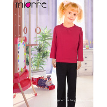 Miorre New 2017 Season Kid's cómodo Plain Color superior y pijamas inferior conjunto