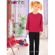 Miorre New 2017 Season Kid's Comfortable Plain Color Top & Bottom Pajamas Set